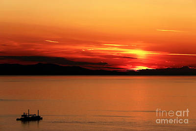 Photograph - Fire In The Sky At Mykonos by John Rizzuto