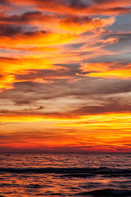 Photograph - Fire In The Sky by Brian Boudreau
