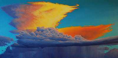 Painting - Fire In The Sky by Cheryl Fecht