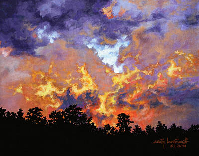 Painting - Fire In The Sky by Craig T Burgwardt