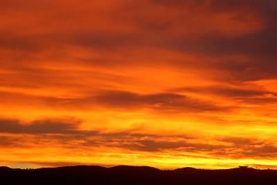 Photograph - Fire In The Sky by Dakota Light Photography By Dakota