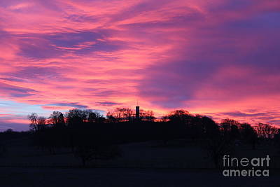 Photograph - Fire In The Sky by David Grant