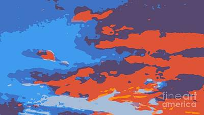 Fire In The Sky Print by James Eye