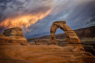 Photograph - Fire In The Sky by Jeff Burton
