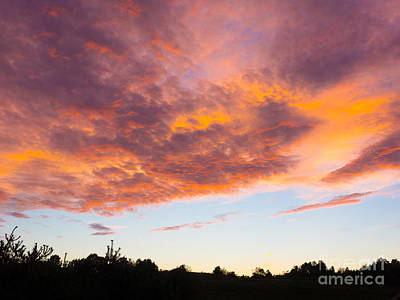 Photograph - Fire In The Sky by John Waclo