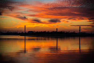 Seaside Heights Photograph - Fire In The Sky by Kristopher Schoenleber
