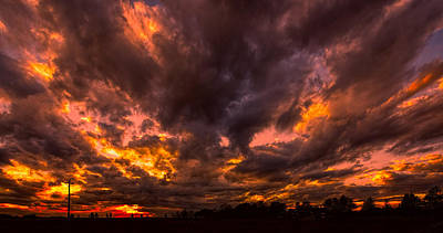 Photograph - Fire In The Sky by Lewis Mann