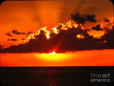 Art Print featuring the photograph Fire In The Sky by Patti Whitten