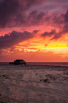 Provincetown Photograph - Fire In The Sky Portrait by Brian Caldwell