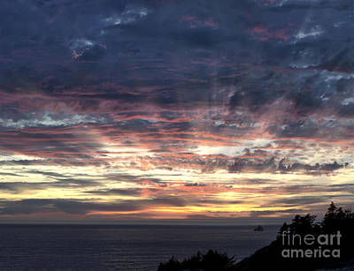 Fire In The Sky Art Print by Sandra Bronstein