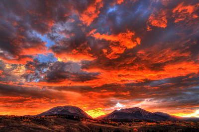 Fire In The Sky Print by Scott Mahon