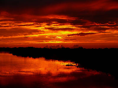 The Sewing Room Photograph - Fire In The Sky by Susan Duda