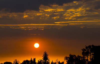 Yorba Photograph - Fire In The Sky by Will Cornell
