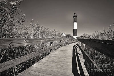 Historic Site Photograph - Fire Island Boardwalk by George Oze