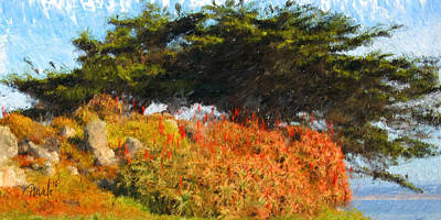 Digital Art - Fire Island - Pacific Grove Ca by Jim Pavelle