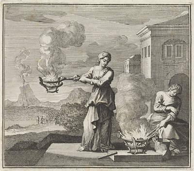 Fire, Jan Luyken Art Print by Jan Luyken