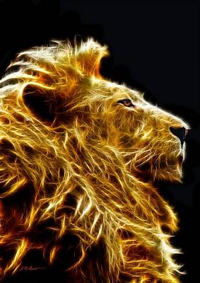 Fire Lion Original by Michael Durst