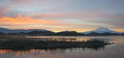 Photograph - Fire Lake by Loree Johnson