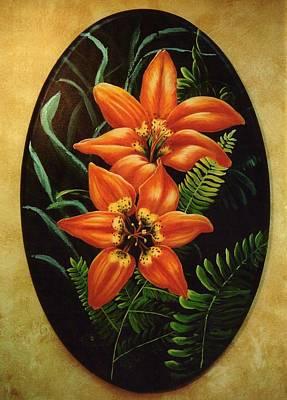 Painting - Fire Lilies by Lori Salisbury