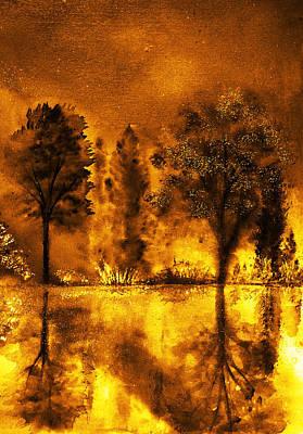 Deer Painting - Fire Of Angels by Ann Marie Bone