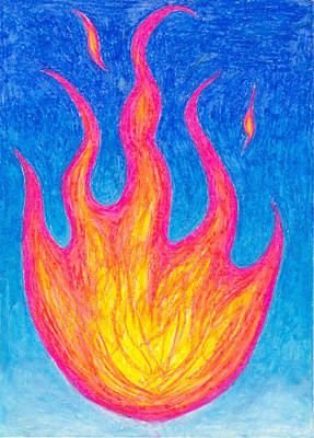 Fire Of Life Art Print