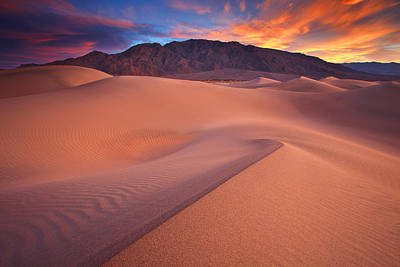 Death Valley National Park Photograph - Fire On Mesquite Dunes by Darren  White