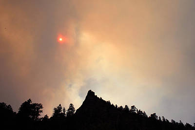 High Park Wildfire Photograph - Fire On The Mountain by Emily Clingman