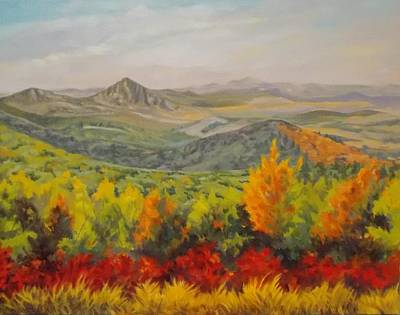 Arkansas Painting - Fire On The Mountain by Margaret Moore Foote