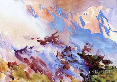 Painting - Fire On The Mountain by Pg Reproductions