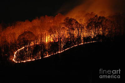 Photograph - Fire On The Mountain by Steven Townsend
