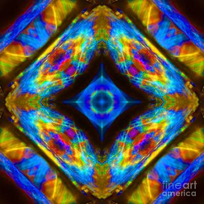 Prana Wall Art - Photograph - Sun Fire Opal Mandala by Susan Bloom