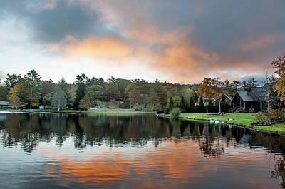 Photograph - Fire Over Harris Lake by Allen Carroll