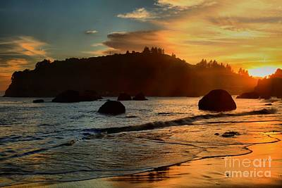 Photograph - Fire Over Trinidad Beach by Adam Jewell
