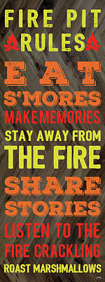 Fire Pit Digital Art - Fire Pit Rules by Elizabeth Medley