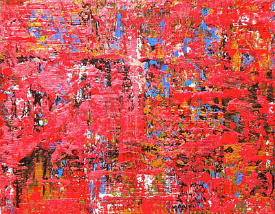 Painting - Fire Red 1 by Dylan Chambers