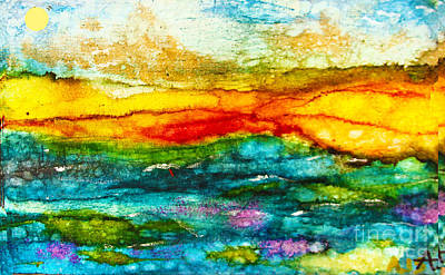 Wall Art - Painting - Fire Sky by Alene Sirott-Cope