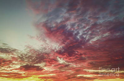 Fire Sky Art Print by Holly Martin