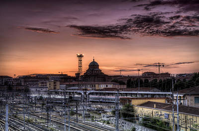 Bologna Photograph - Fire Sky Over Bologna by Tommaso Di Donato