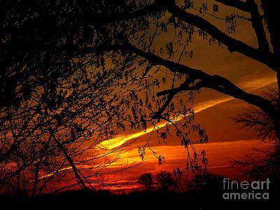 Photograph - Fire Sky by Scott B Bennett