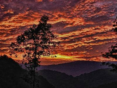 Photograph - Fire Sky by Tom Culver