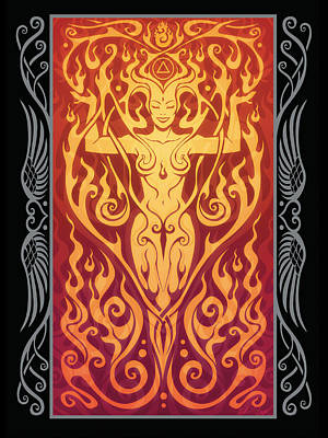 Fire Spirit V.2 Art Print