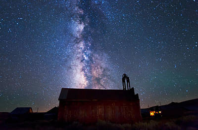 Old West Ghost Towns Photograph - Fire Station At Bodie by Cat Connor