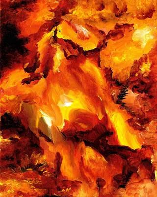 Fire Storm Art Print
