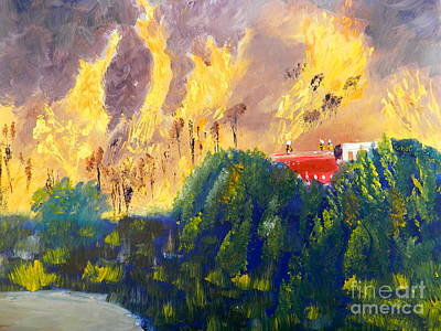 Fire Storm Original by Pamela  Meredith