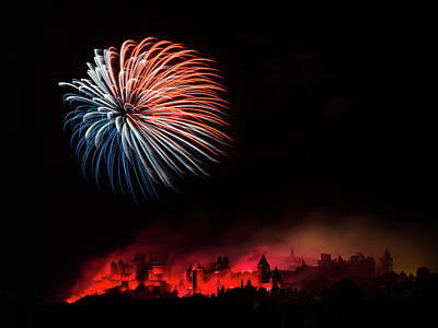 Carcassonne Photograph - Fire by Thierry Boitelle
