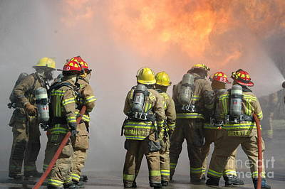 Photograph - Fire Training  by Steven Townsend