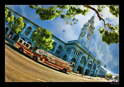 Photograph - Fire Truck And Ferry Building by Blake Richards