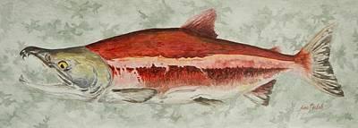 Salmon Painting - Fire Truck by Jason Bordash