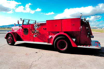 Photograph - Fire Truck  by Lisa Cortez