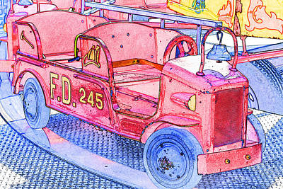 Photograph - Fire Truck by Michael Porchik